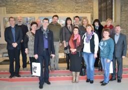 Белорусская делегация, войт Веслав Коцюба и его коллеги в художественной галерее Оганеса Казаряна, гмина Хелм