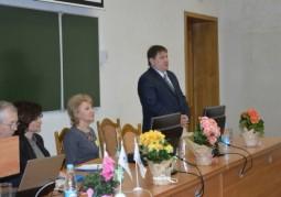 Каралев Александр Альбертович, первый заместитель главы администрации Октябрьскго района г. Витебска, приветствует участников Форума