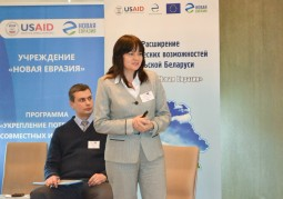 Марина Слонимская, эксперт «Витебский бизнес-центр» (Витебск) рассказала о предпринимательстве в стратегиях устойчивого развития сельских Советов в рамках модерируемой дискуссии